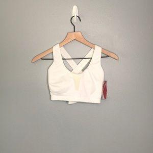 Saucony   white 32DD sports bra NWT